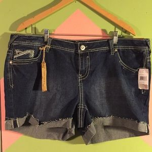Amthyst distressed cut off jean shorts